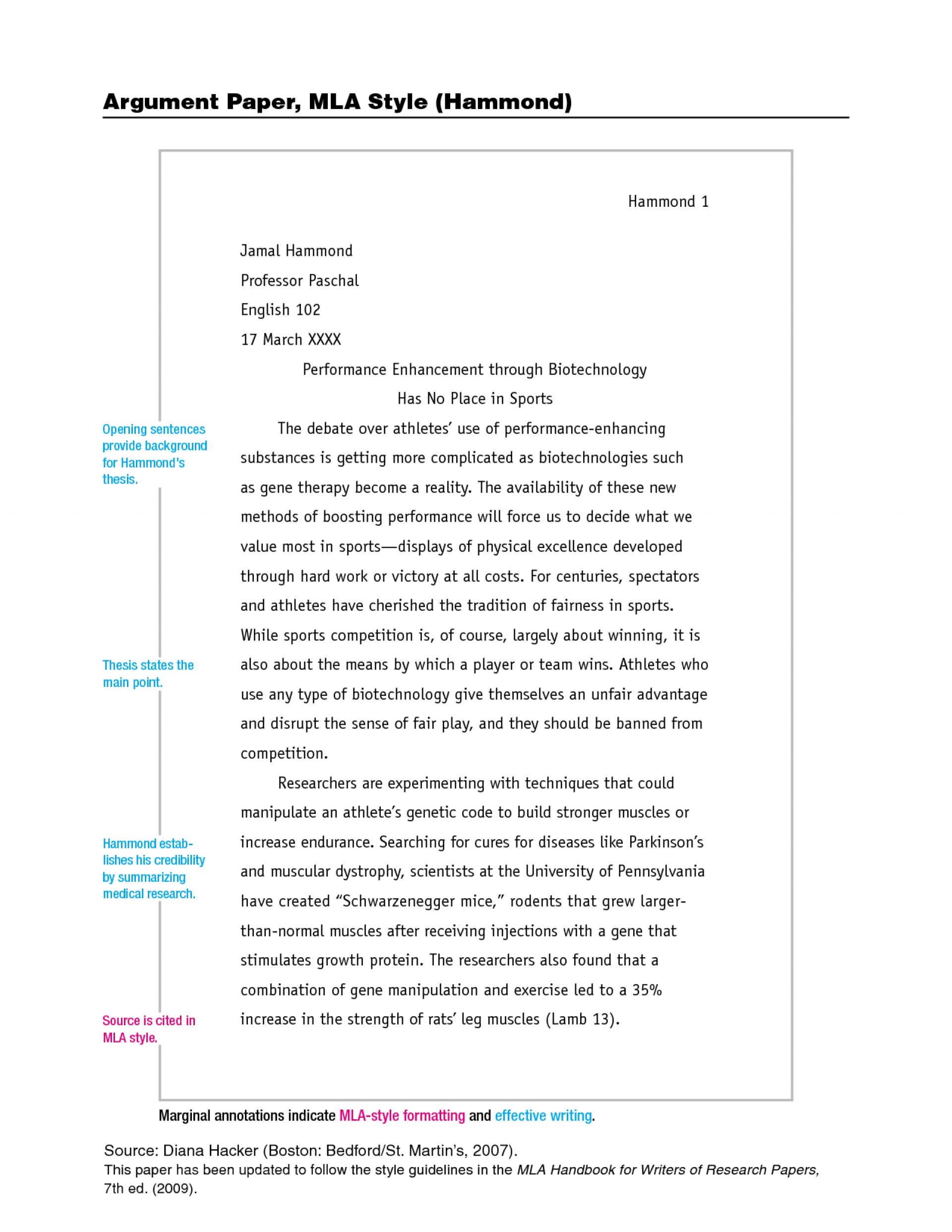 007 Example Of Research Paper Using Mla Style Fascinating Writing A Outline 1920