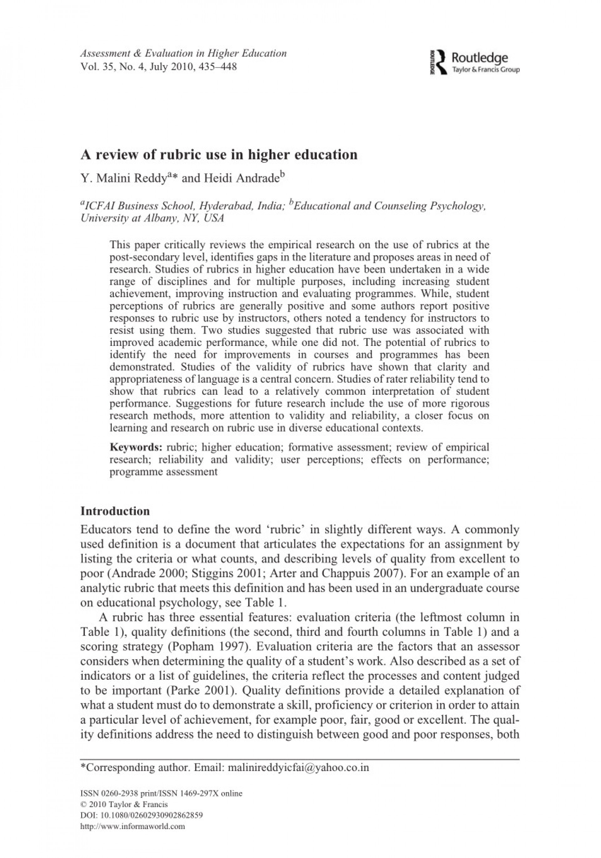 007 Higher Education Research Paper Pdf Rubric High School Lovely Review Of Use Amazing 1920