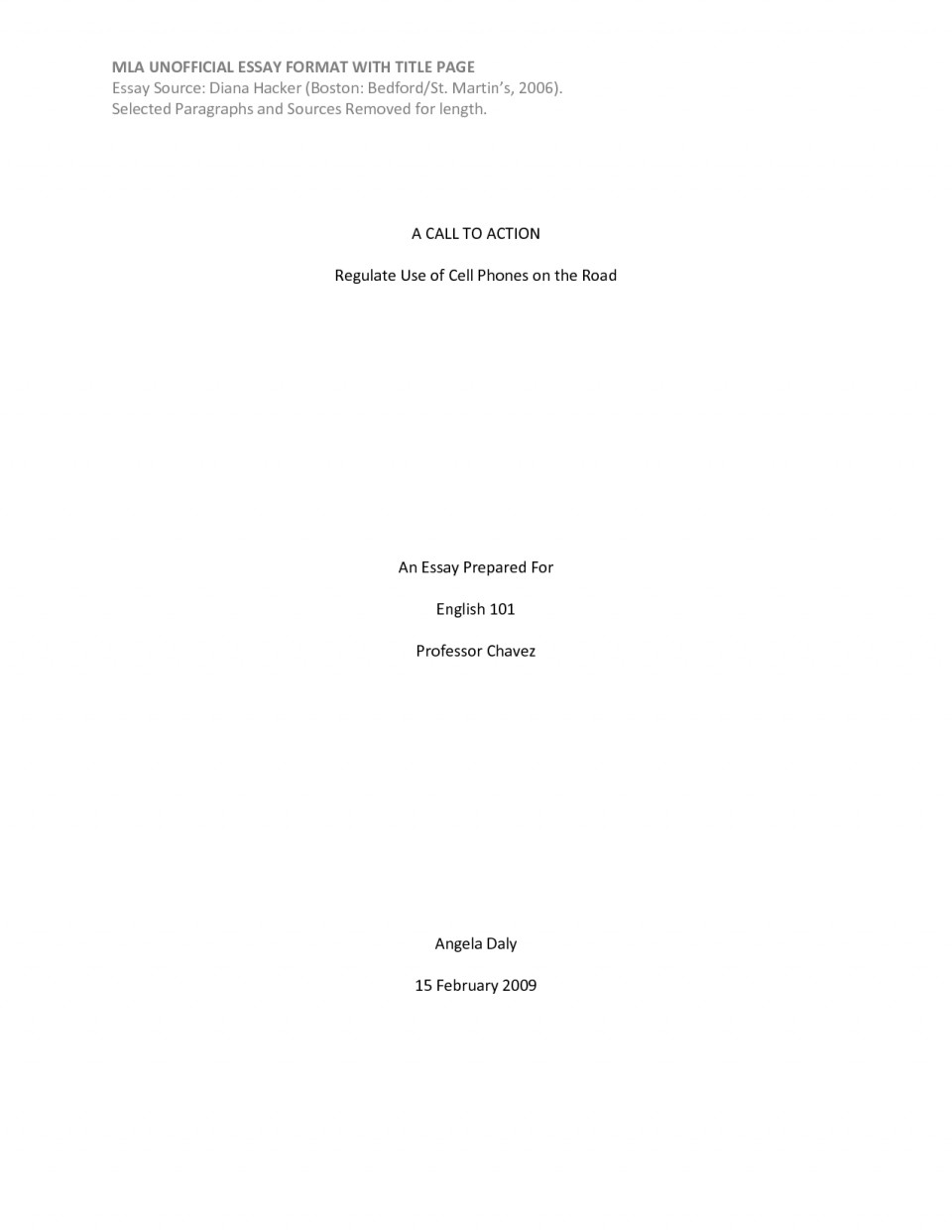 How To Create A Title Page For An Essay
