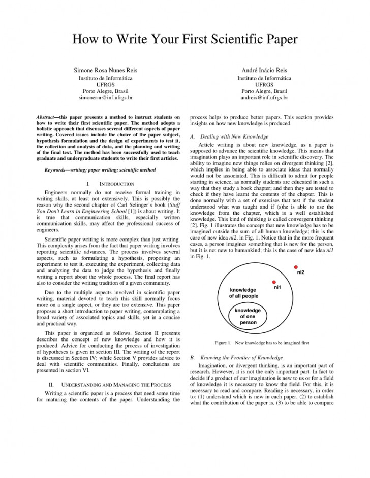 007 How To Write Scientific Paper And Publish Research Surprising A Pdf 728