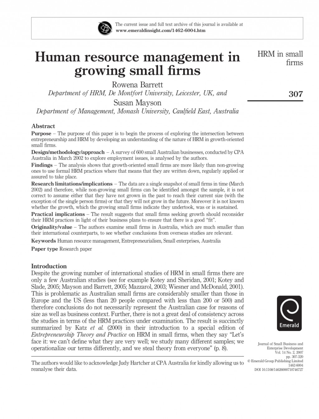 007 Largepreview Hrm Researchs Free Download Pdf Phenomenal Research Papers Large
