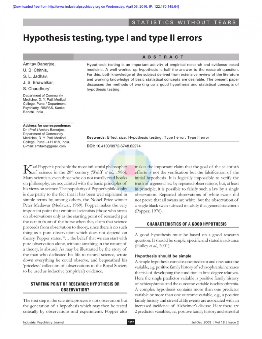 007 Largepreview Hypothesis Testing In Research Awesome Paper Pdf