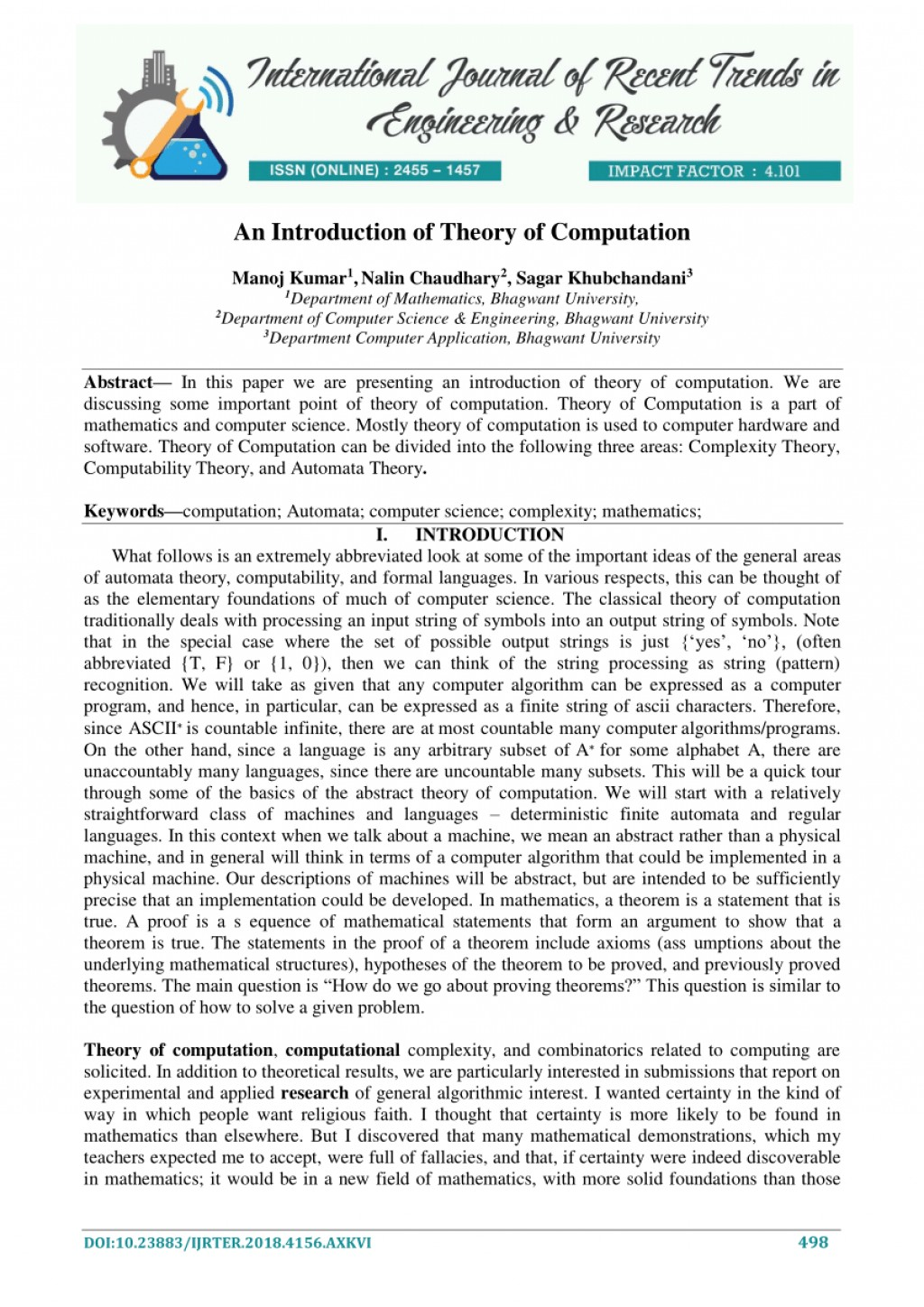 Computer science term papers
