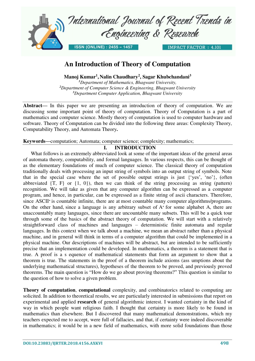 007 Latest Research Papers In Computer Science Paper Dreaded 2018 Full