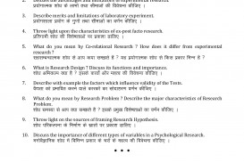 007 Ma Psychology Research Methodology Part I Paper V Dreaded Pdf Question For Phd Example Sample