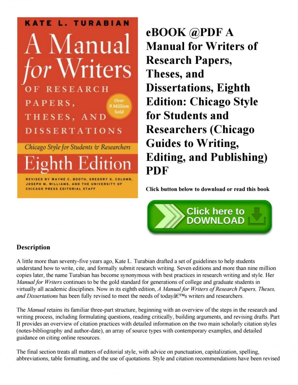 007 Manual For Writers Of Research Papers Theses And Dissertations Ebook Paper Page 1 Unbelievable A 960