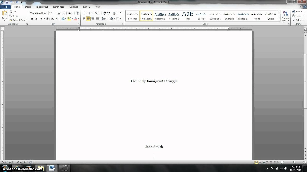 007 Maxresdefault Research Paper How To Make Cover Page For Marvelous A Mla Full