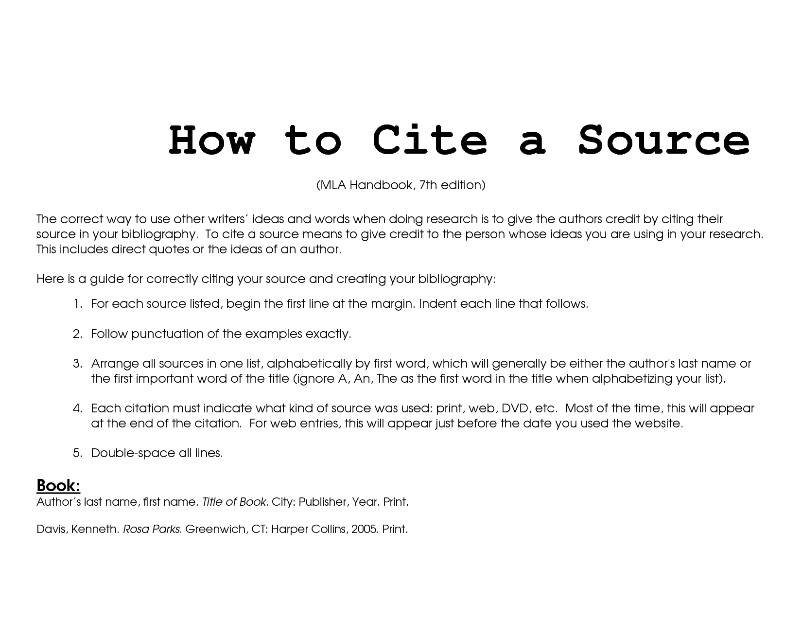 007 Mla How To Cite Source In Research Paper Unbelievable A Format Full