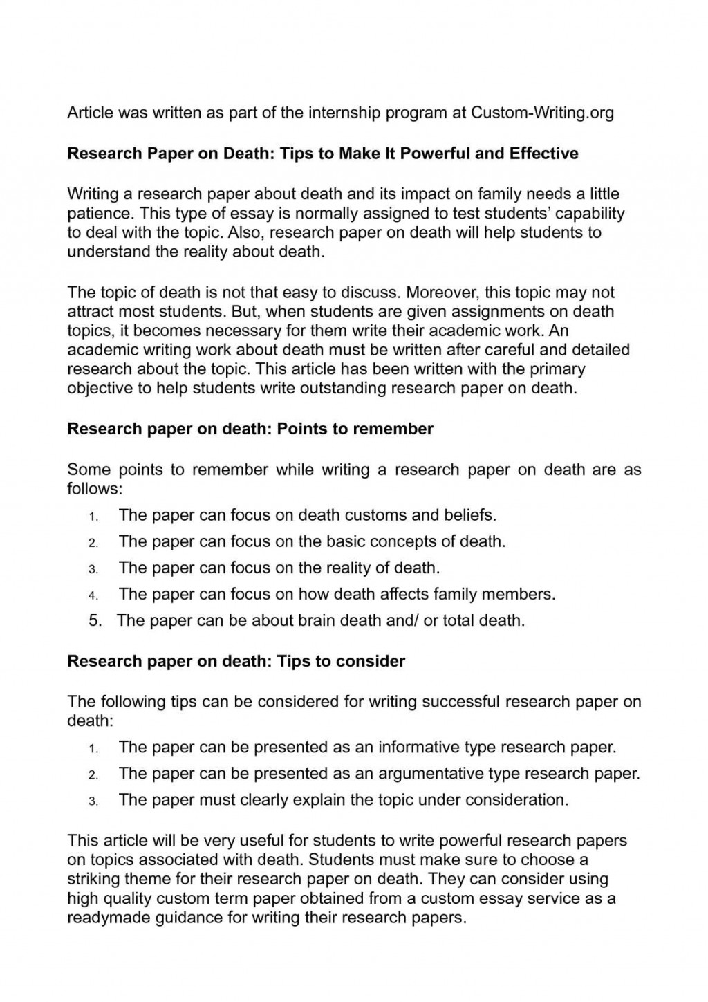 007 P1 Research Paper Original Papers For Singular Sale Large