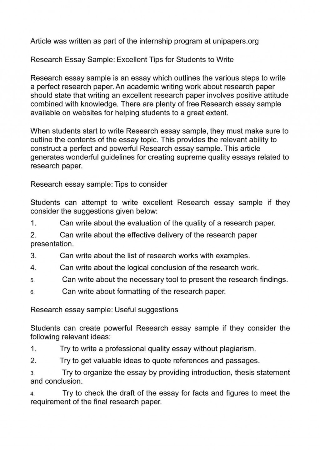 007 Perfect Conclusion For Research Paper Rare A Large