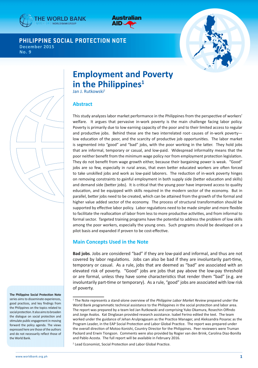 007 Poverty In The Philippines Research Paper Abstract Remarkable