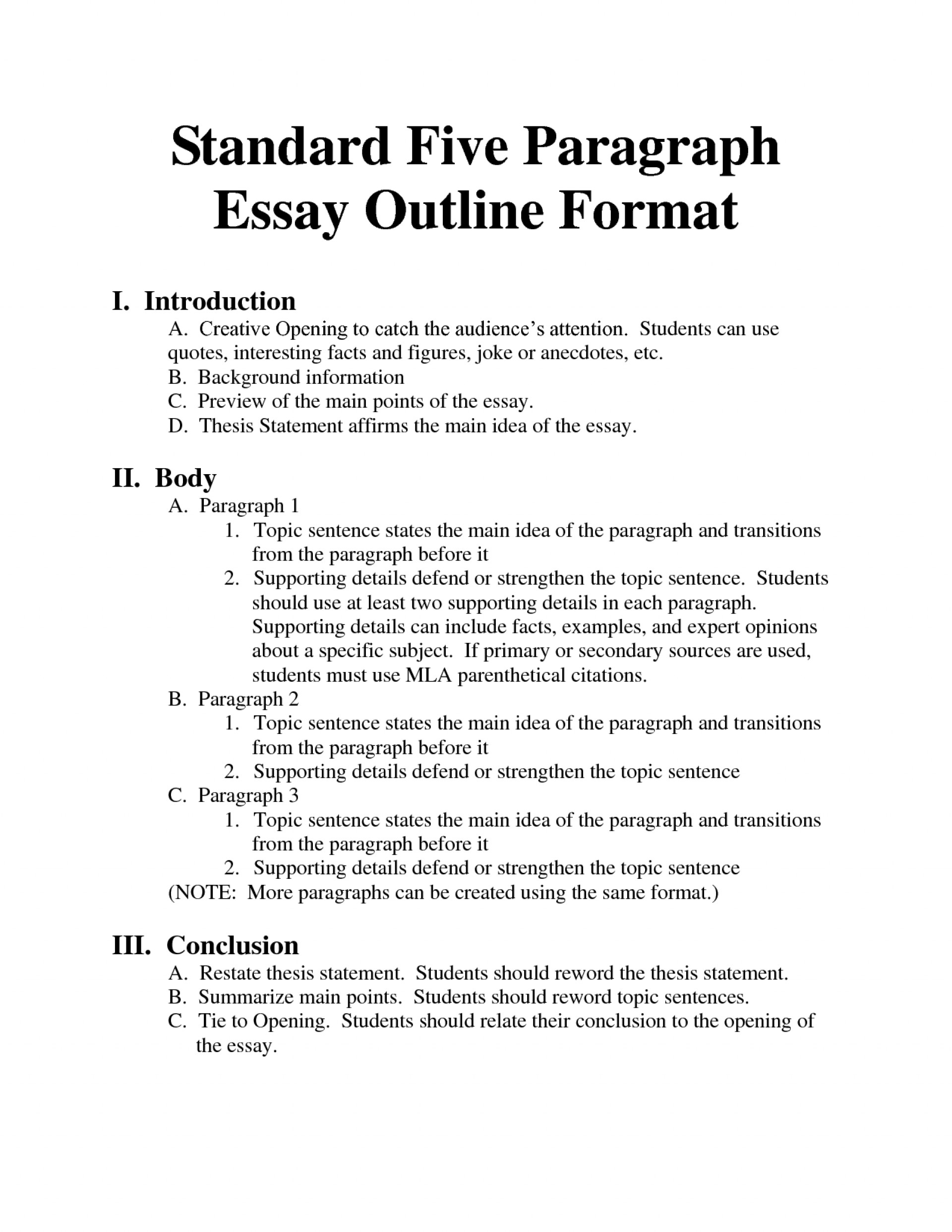007 Proper Format For Research Paper Outline Incredible A 1920