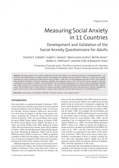 007 Psychology Research Paper On Social Anxiety Disorder Staggering 480