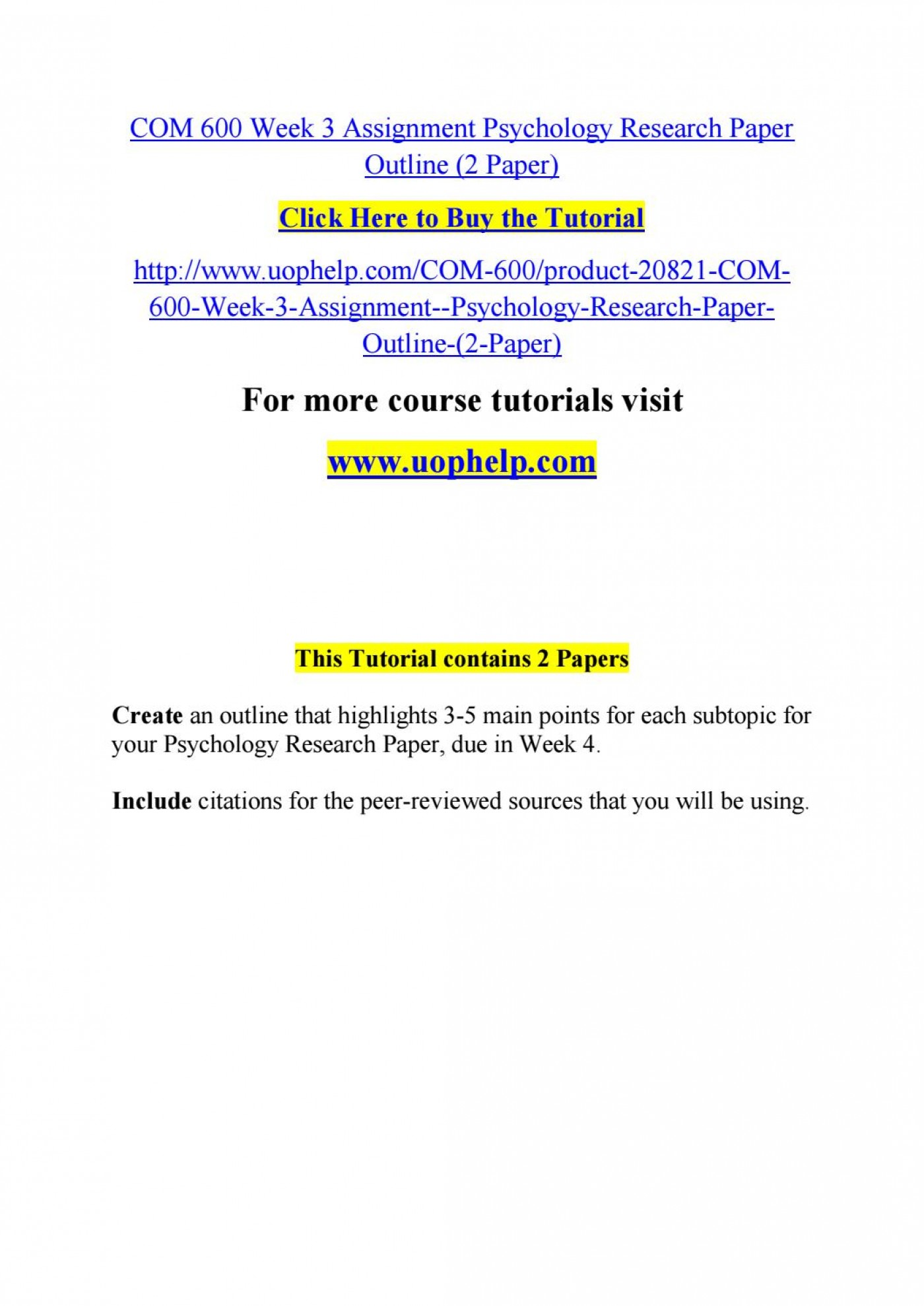 007 Psychology Research Paper Outline Com Page 1 Striking 600 Com/600 1400