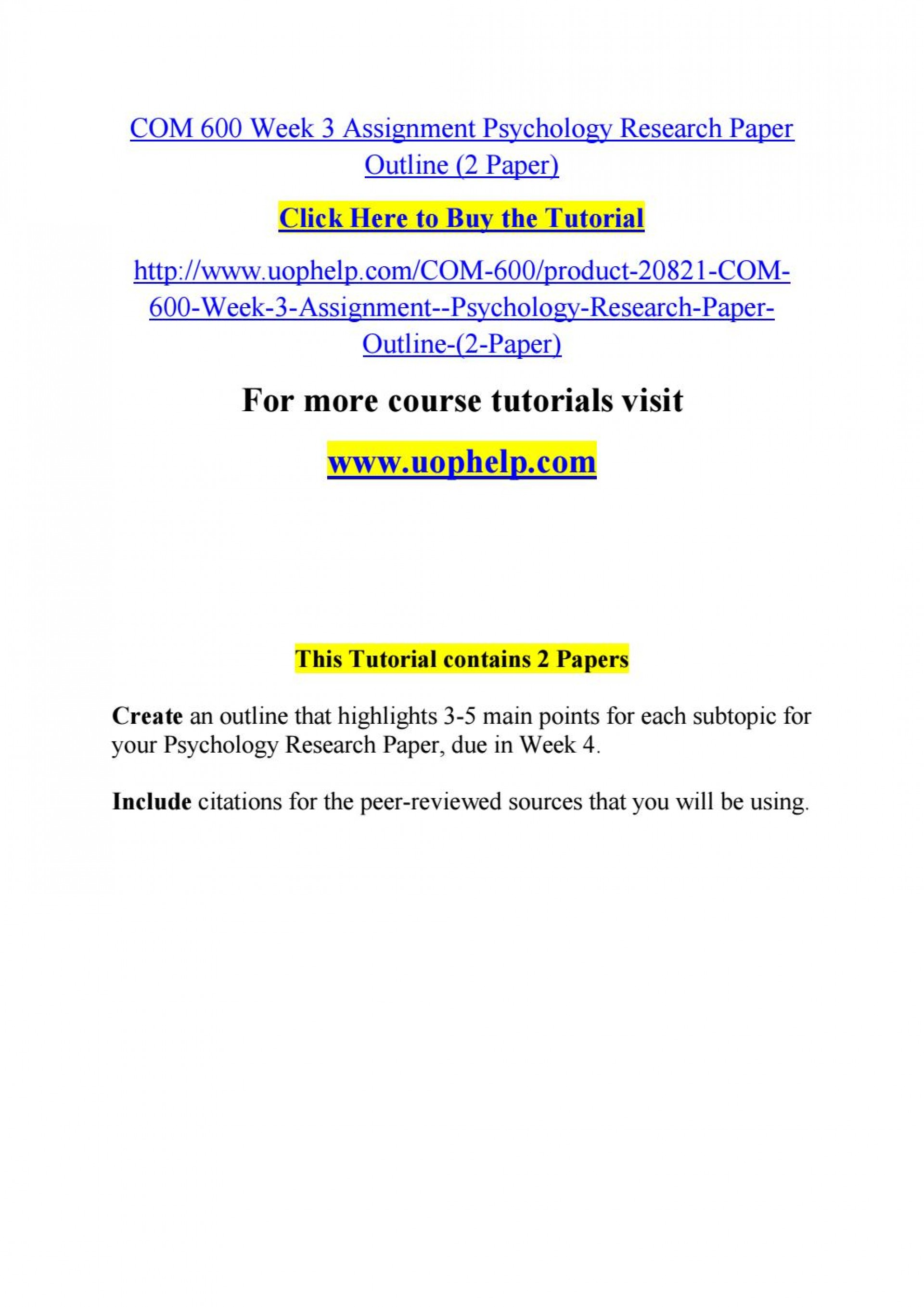 007 Psychology Research Paper Outline Com Page 1 Striking 600 Com/600 1920