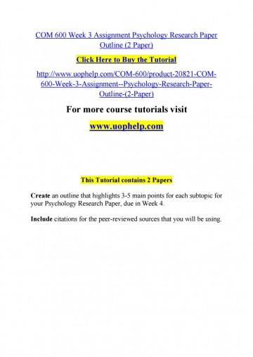 007 Psychology Research Paper Outline Com Page 1 Striking 600 Com/600 360