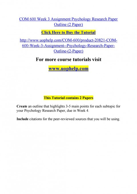 007 Psychology Research Paper Outline Com Page 1 Striking 600 Com/600 480