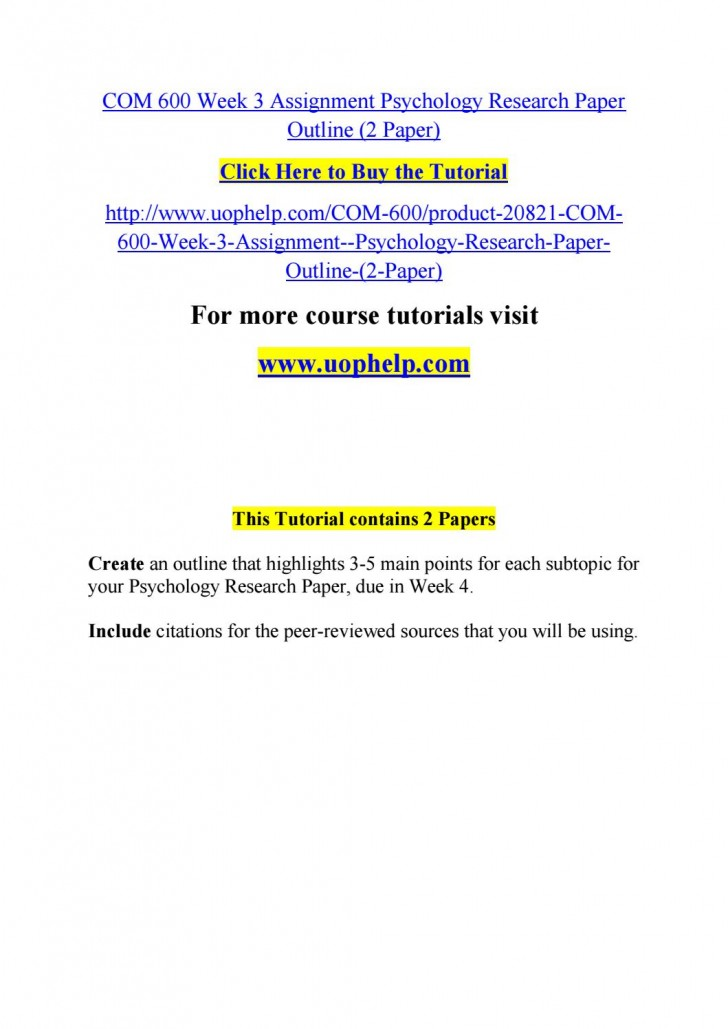 007 Psychology Research Paper Outline Com Page 1 Striking 600 Com/600 728