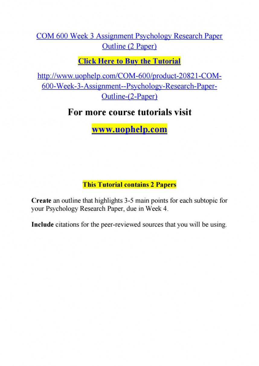 007 Psychology Research Paper Outline Com Page 1 Striking 600 Com/600 868