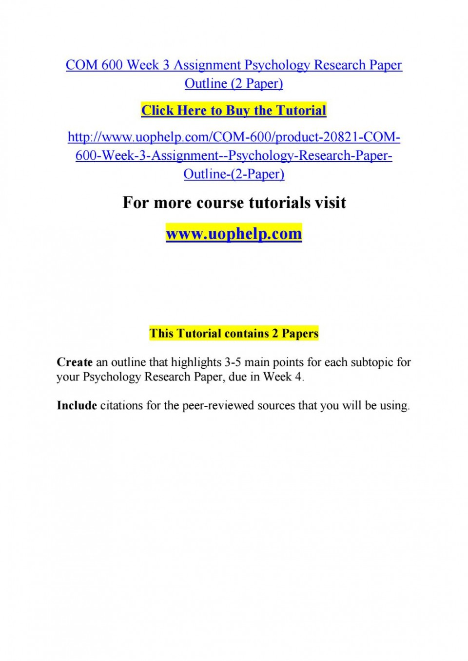 007 Psychology Research Paper Outline Com Page 1 Striking 600 Com/600 960