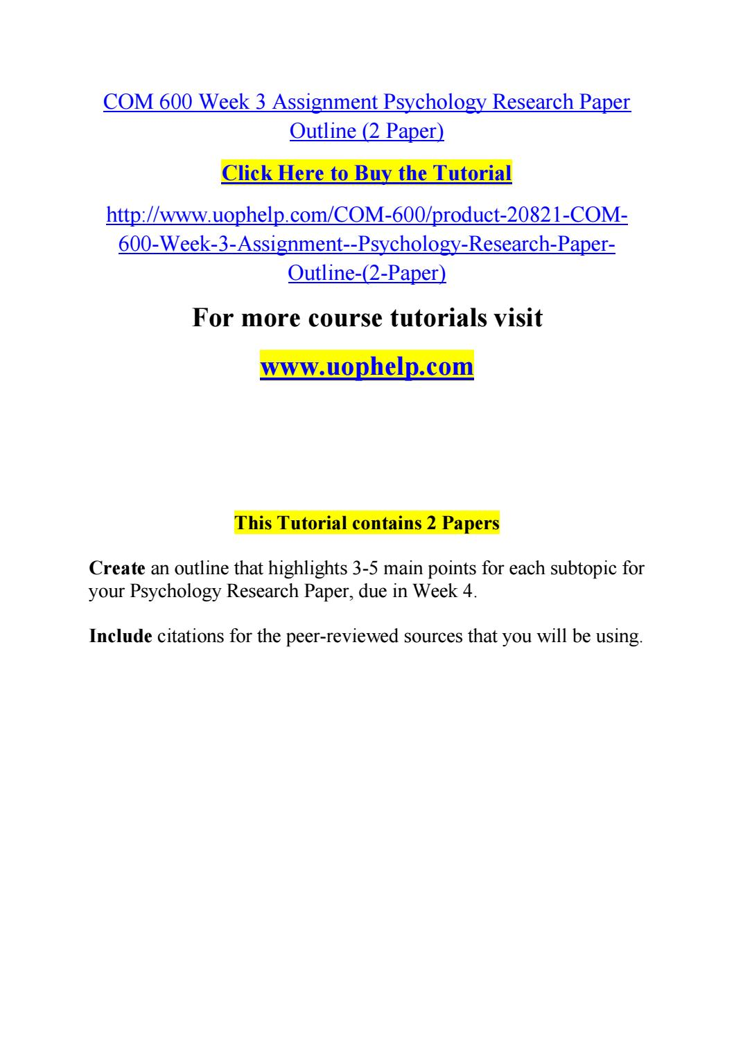 007 Psychology Research Paper Outline Com Page 1 Striking 600 Com/600