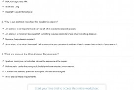 007 Quiz Worksheet Writing An Mla Abstract For Research Awesome Paper Example
