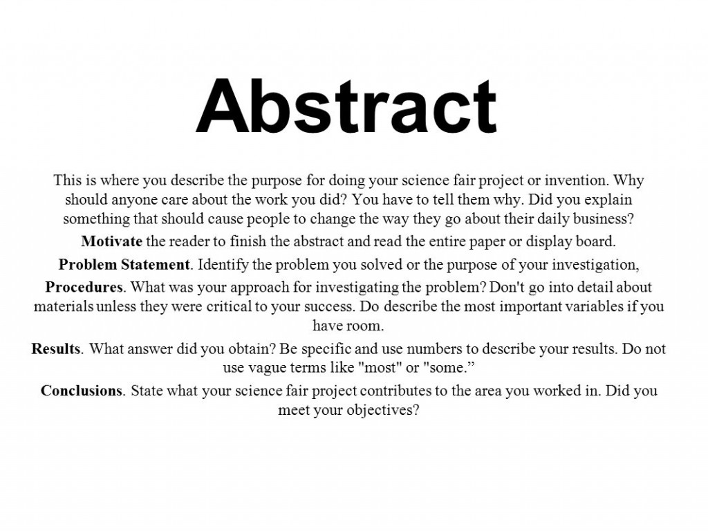 007 Research Paper Abstract Of Scientific Slide 2 Incredible A Example Large