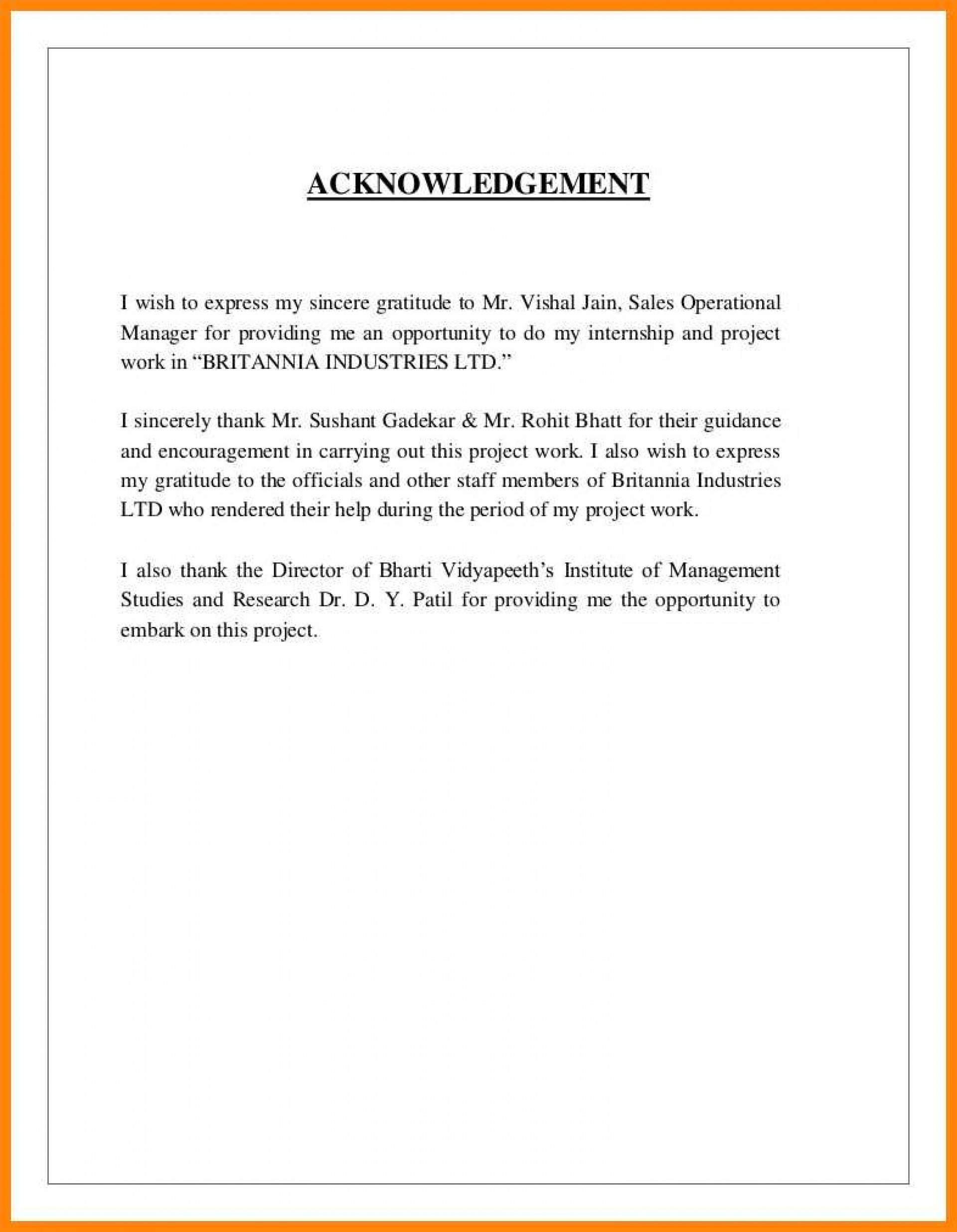 007 Research Paper Acknowledgement For Examples Sample Of 13 Striking 1920