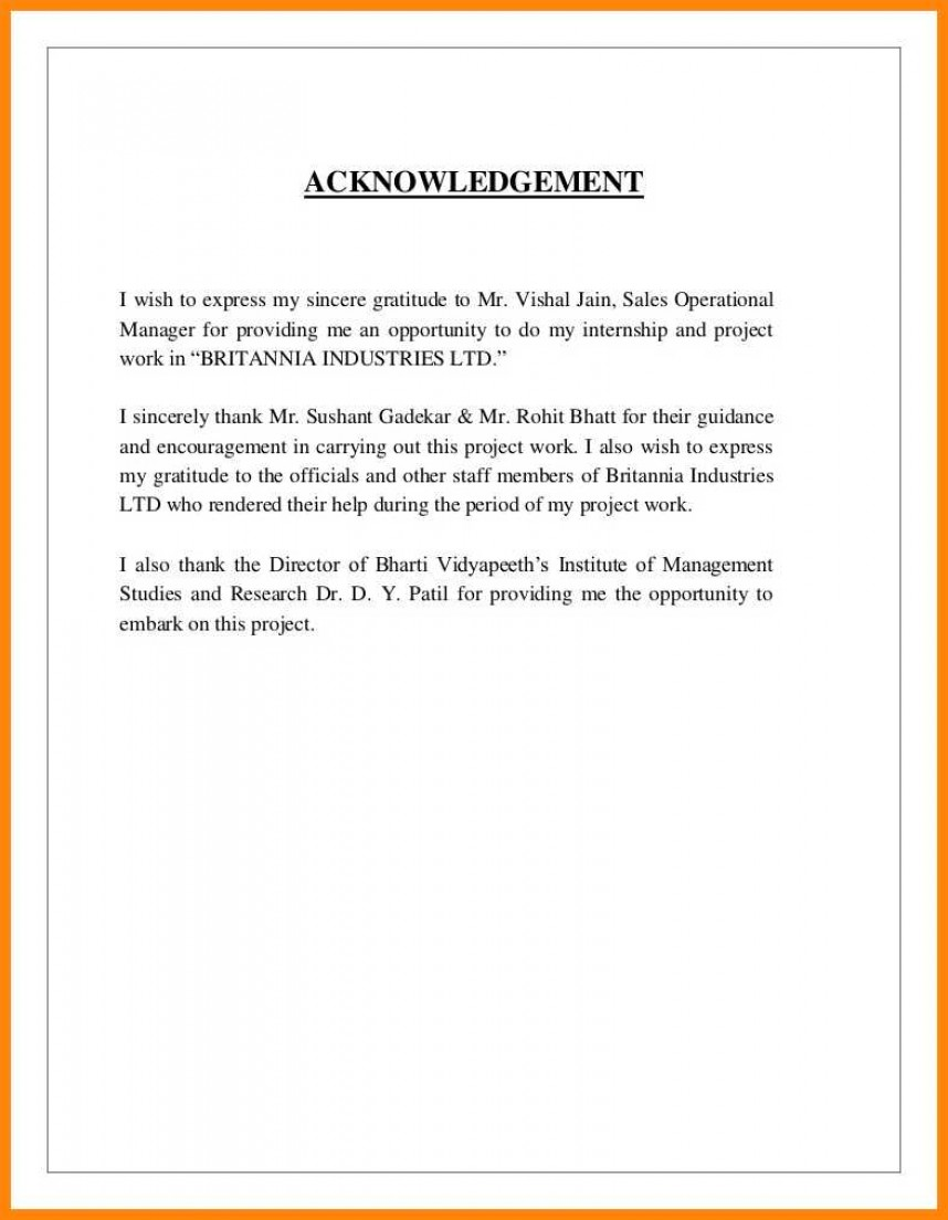 007 Research Paper Acknowledgement For Examples Sample Of 13 Striking