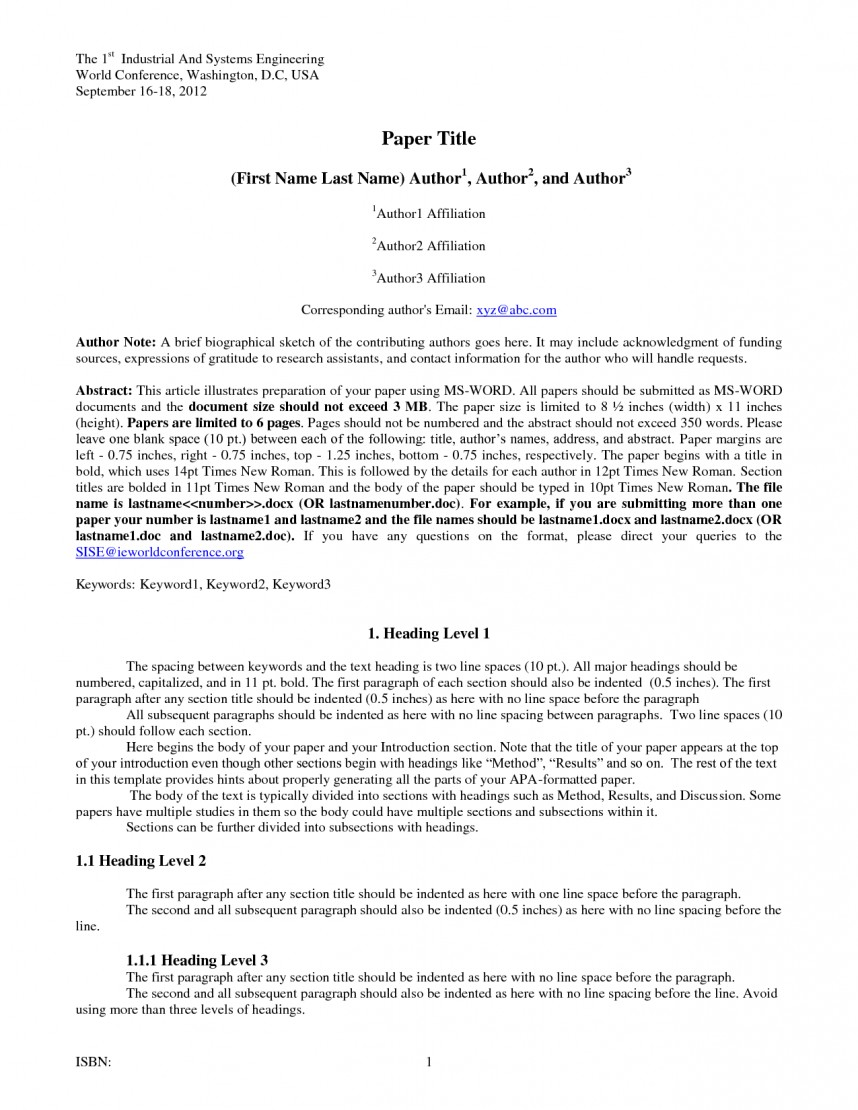 007 Research Paper Apa Template Doc 6th Edition Unusual Google Docs