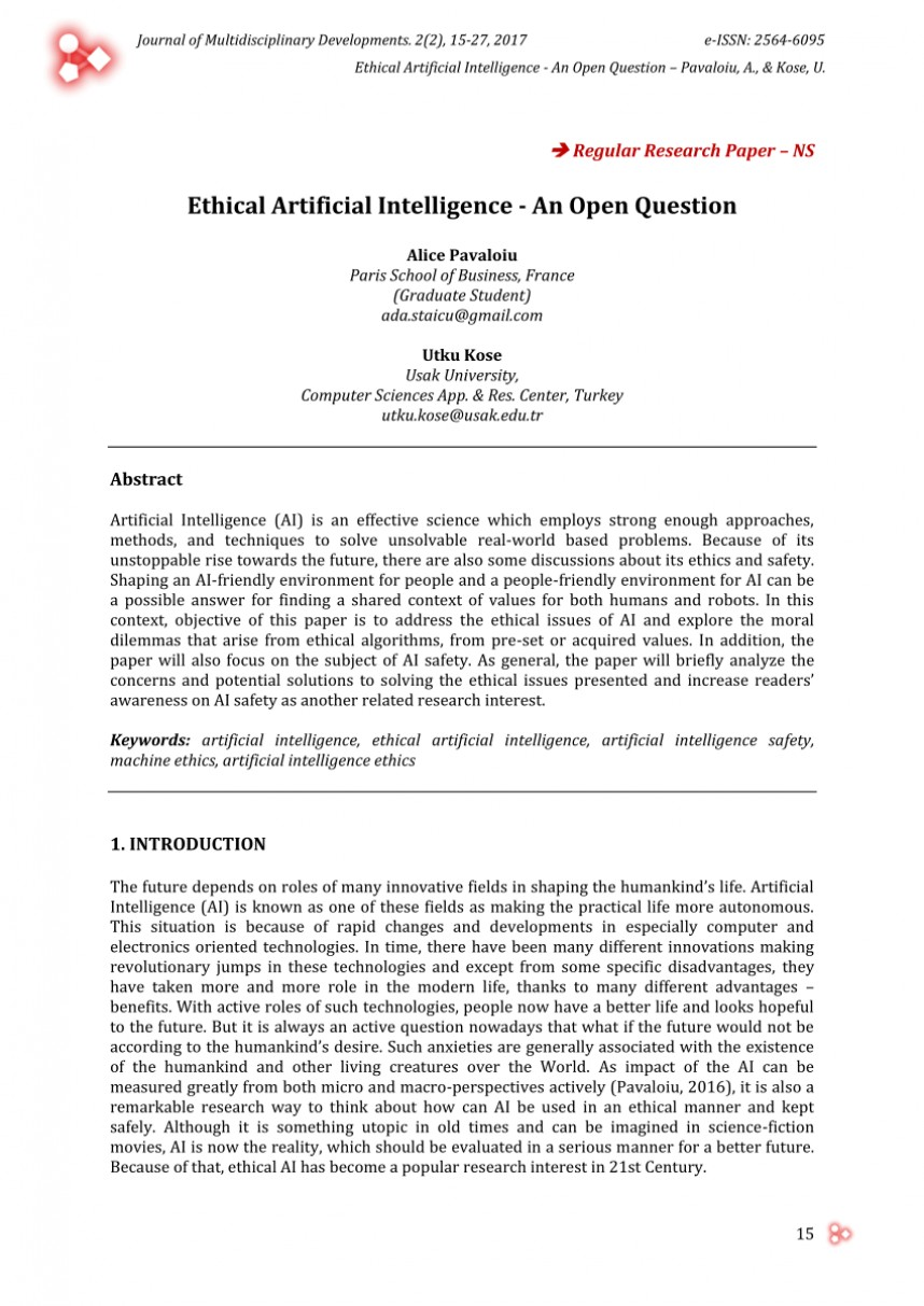 007 Research Paper Artificial Intelligence Papers Unique 2017 On Ai