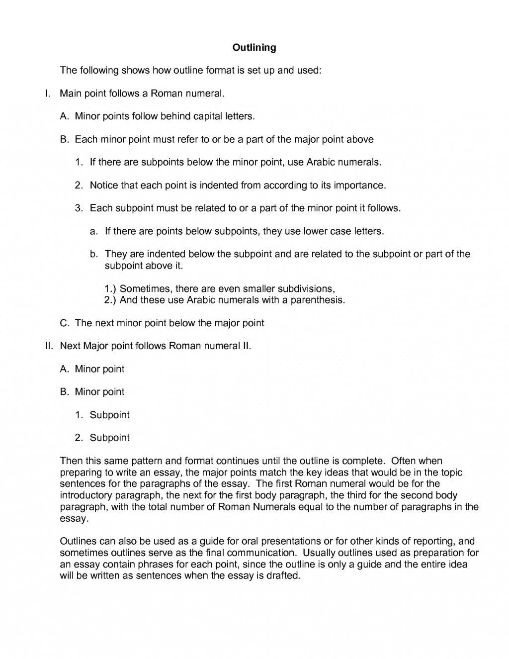 007 Research Paper Example Apa Outline Striking Large