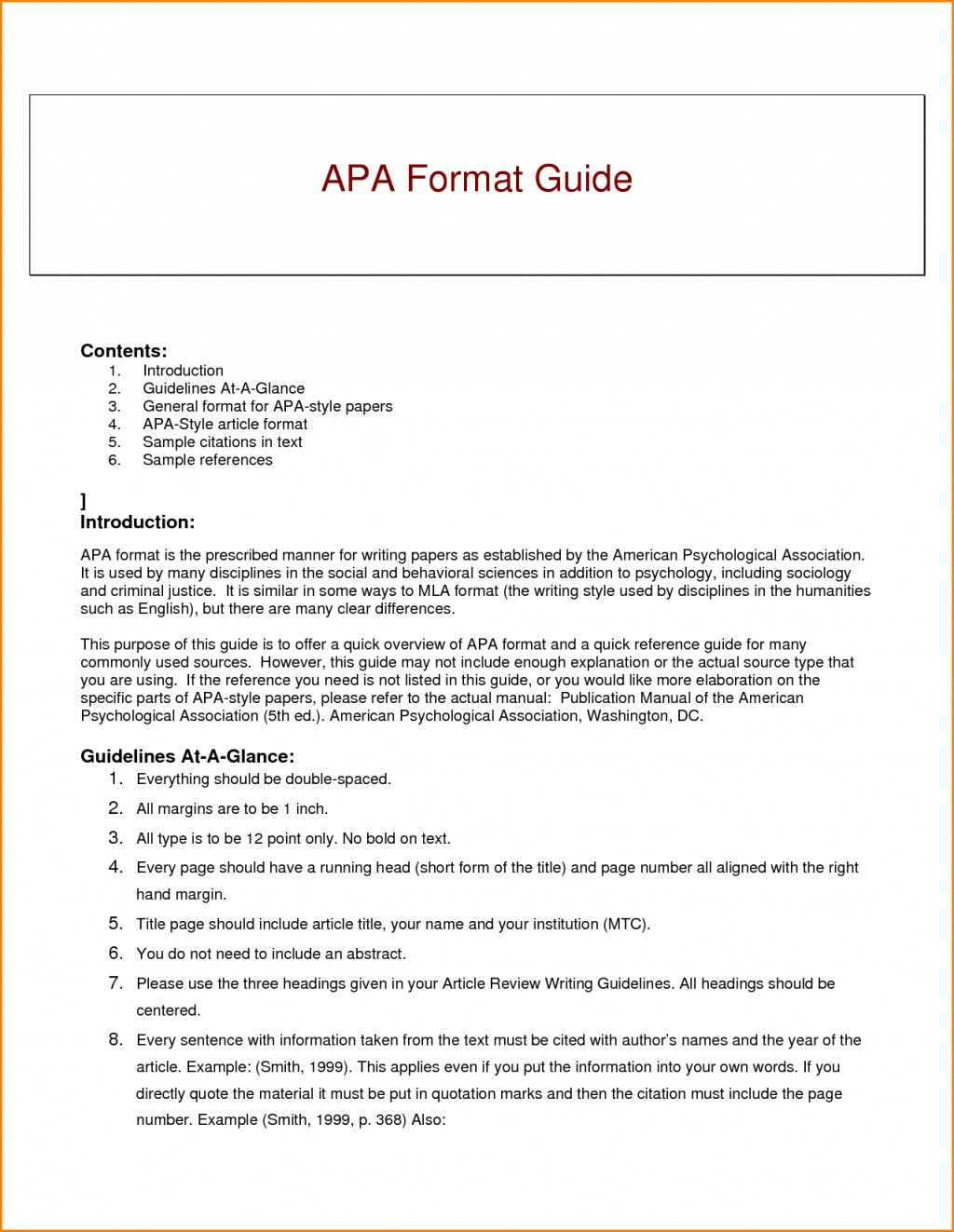 007 Research Paper Guidelines Writing Apa Dreaded Format Large