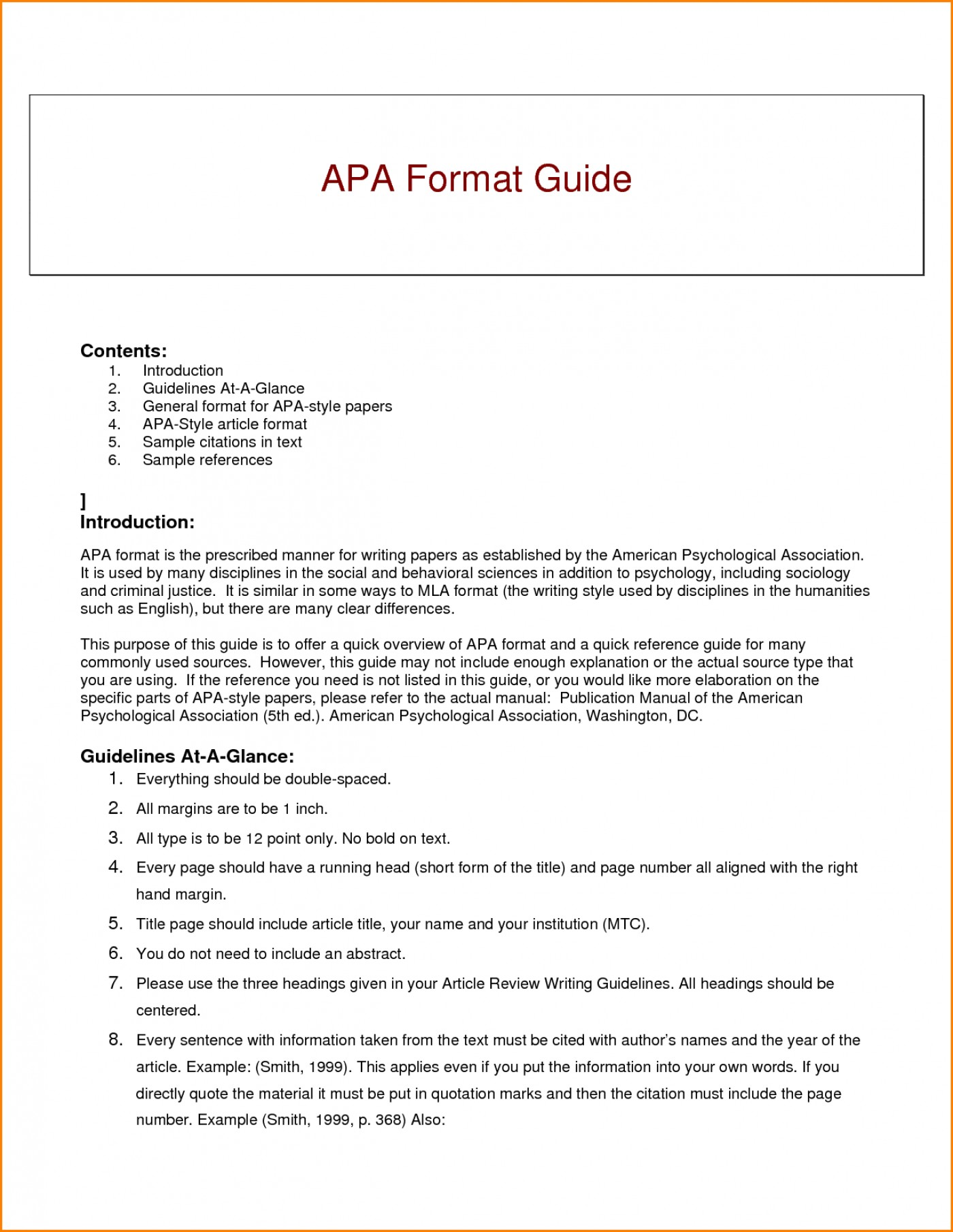 007 Research Paper Guidelines Writing Apa Dreaded Format 1400