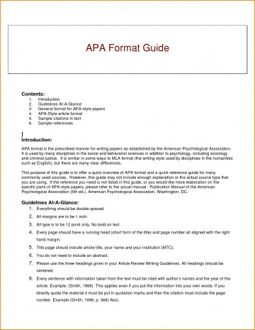 007 Research Paper Guidelines Writing Apa Dreaded Format 360
