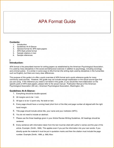007 Research Paper Guidelines Writing Apa Dreaded Format 480
