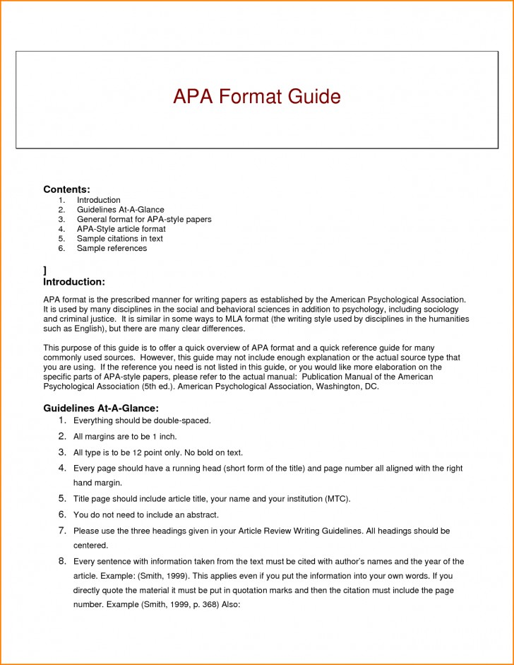007 Research Paper Guidelines Writing Apa Dreaded Format 728