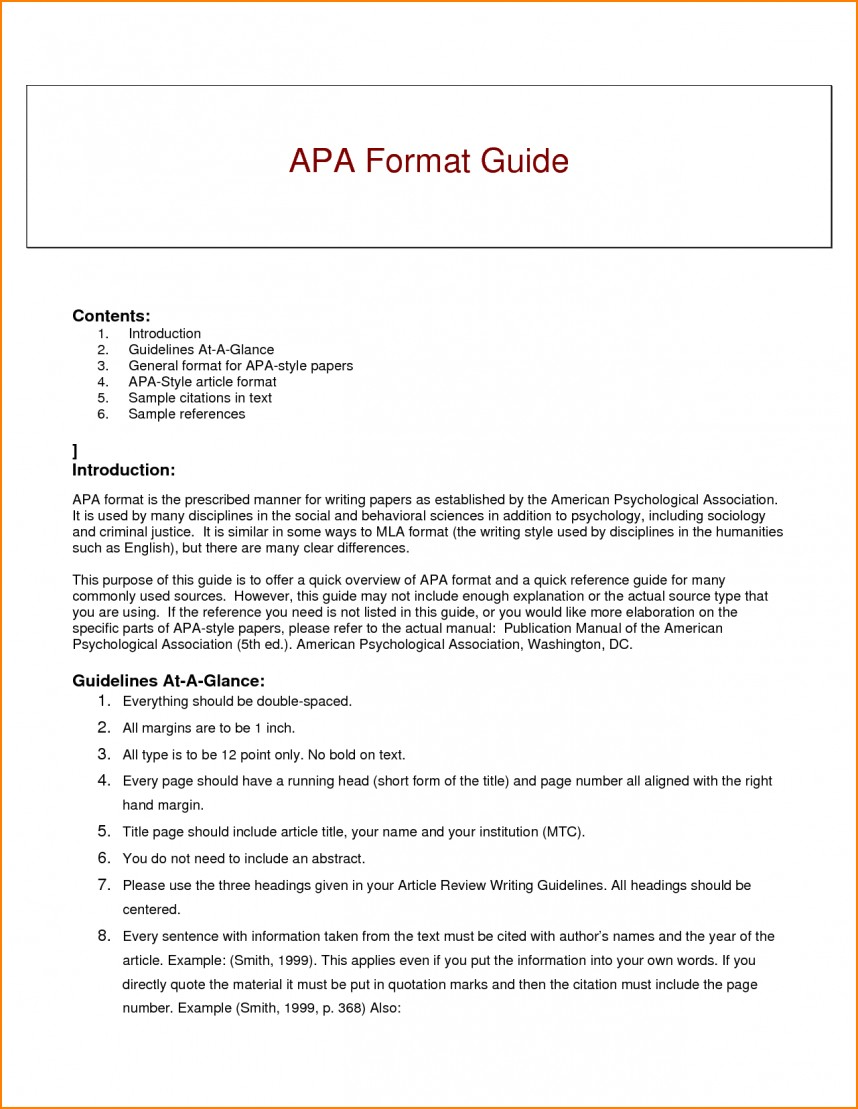 007 Research Paper Guidelines Writing Apa Dreaded Format