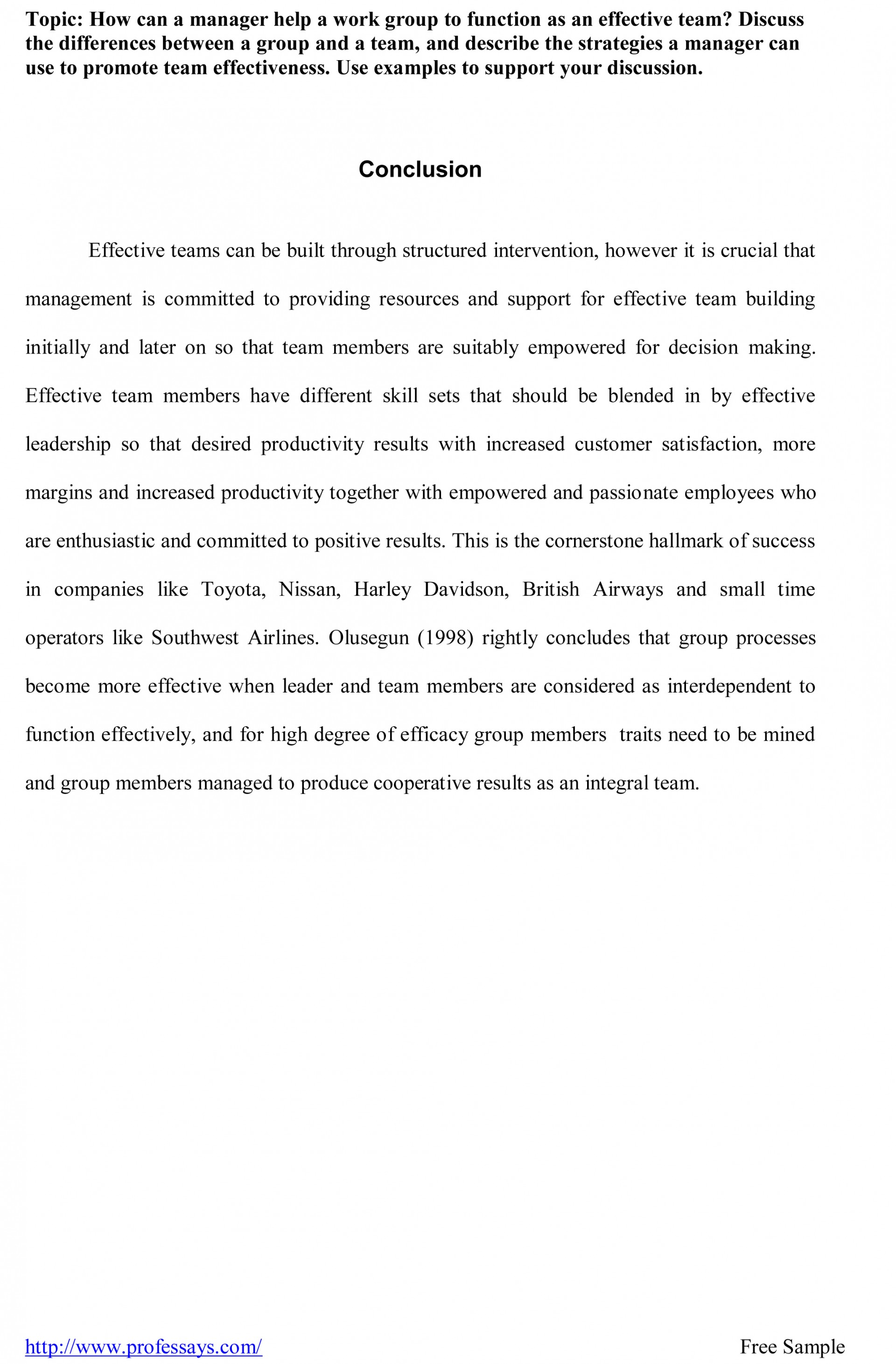 007 Research Paper Help Writing Papers Conclusion Sample For Outstanding My 1920
