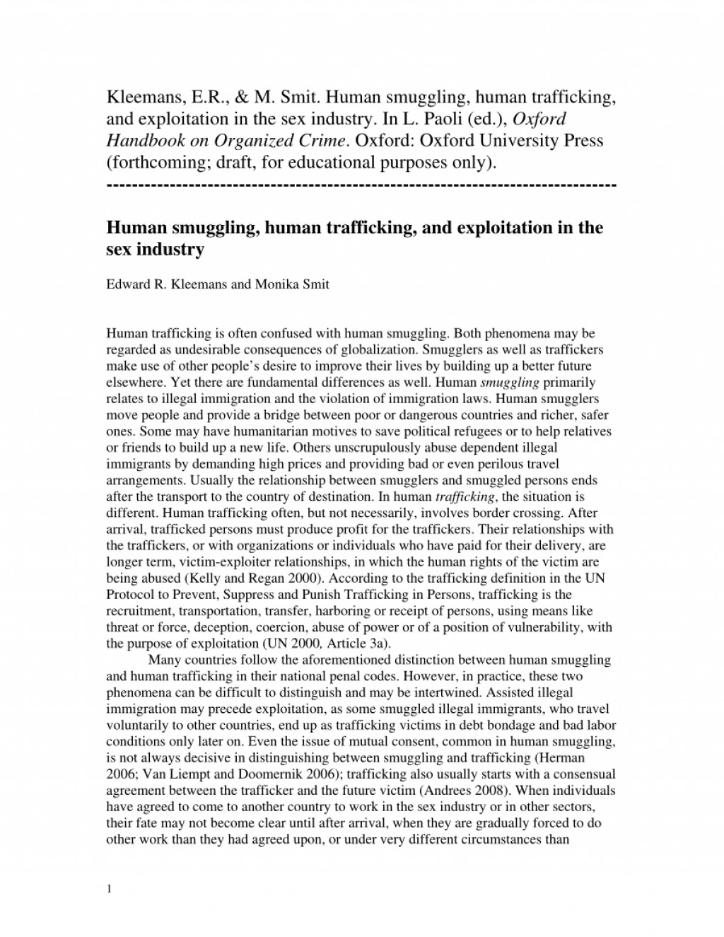 007 Research Paper Human Trafficking Proposal Fearsome Large