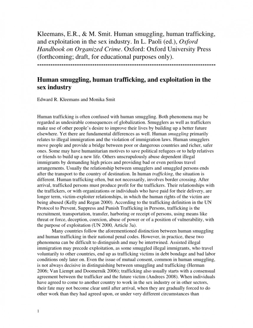 007 Research Paper Human Trafficking Proposal Fearsome