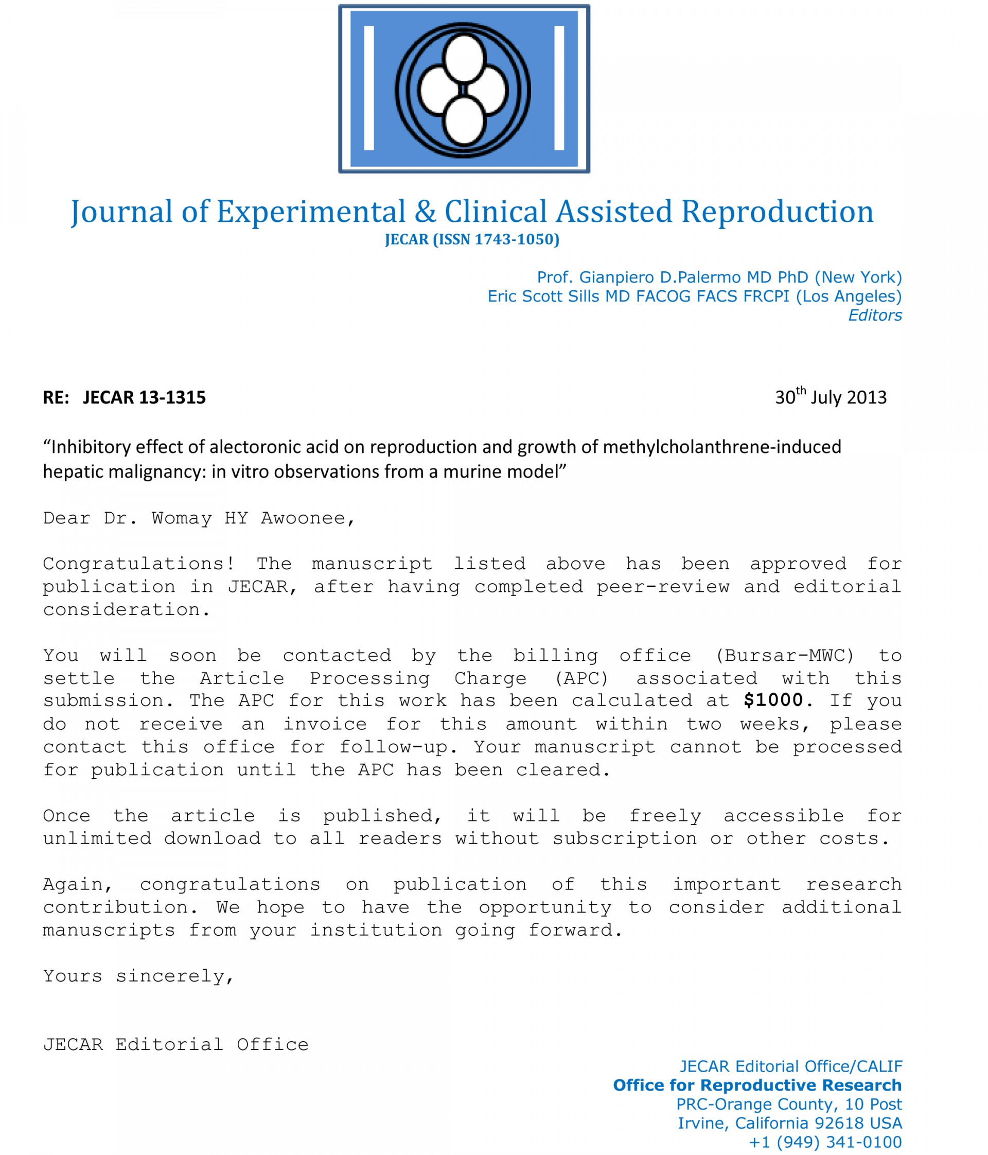 007 Research Paper Jecar Acceptance Enl How To Publish Without Striking A Professor 1920