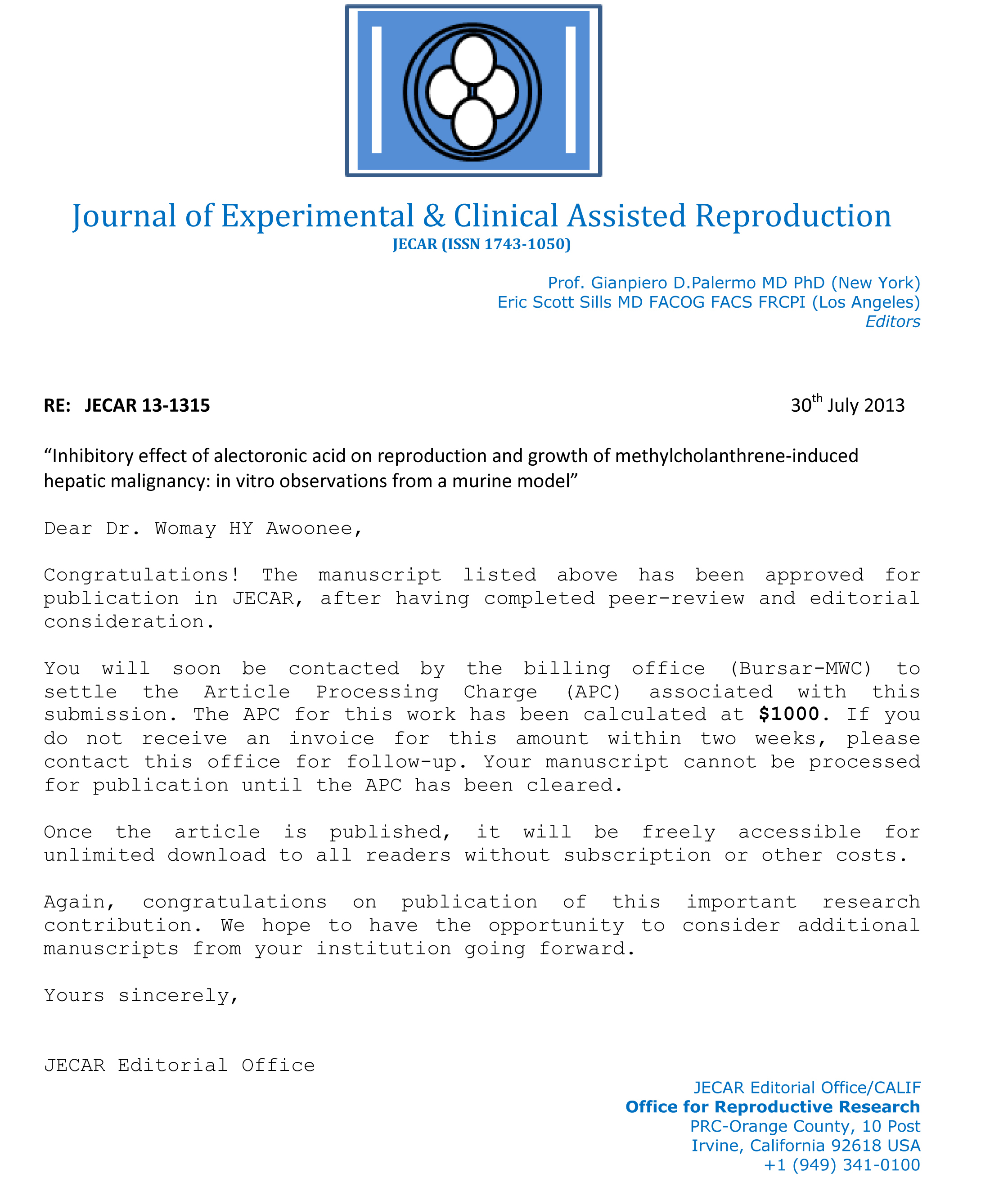 007 Research Paper Jecar Acceptance Enl How To Publish Without Striking A Professor Full