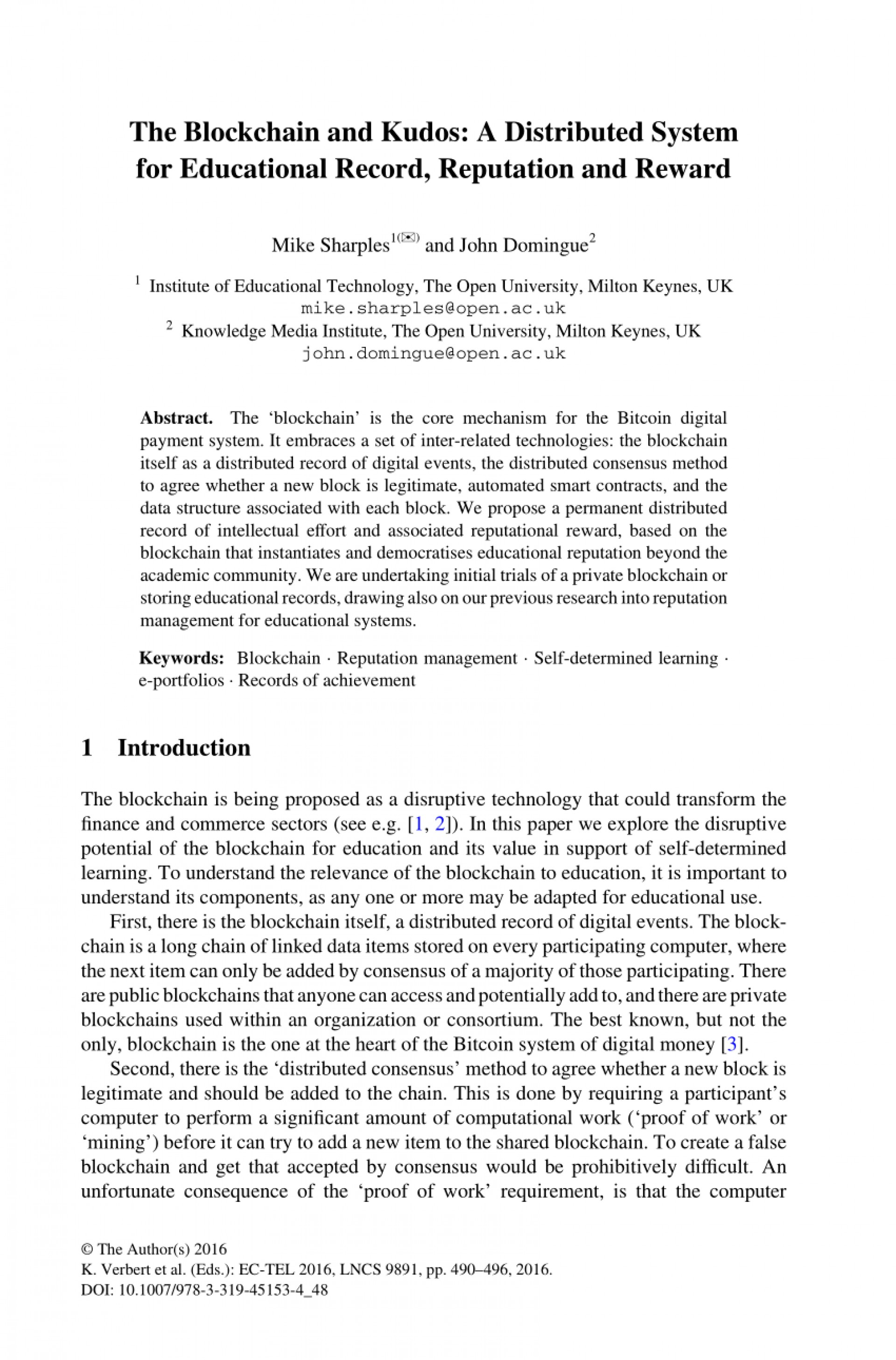 007 Research Paper Largepreview Blockchain Technology Marvelous Pdf 1920