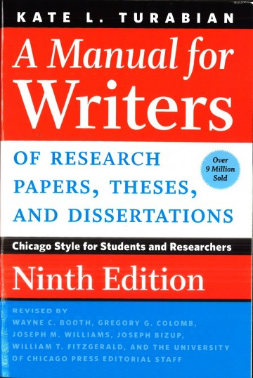 007 Research Paper Manual For Writers Of Papers Theses And Dissertations Amazing A Turabian Pdf 360