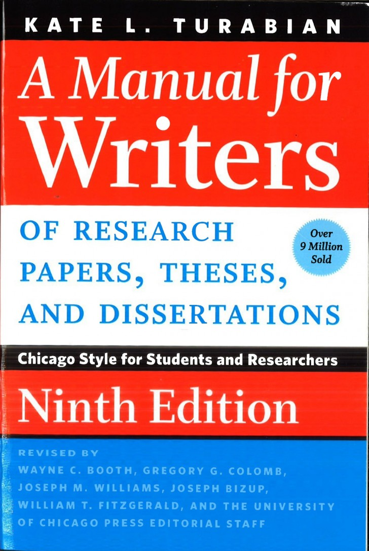007 Research Paper Manual For Writers Of Papers Theses And Dissertations Amazing A Turabian Pdf 728
