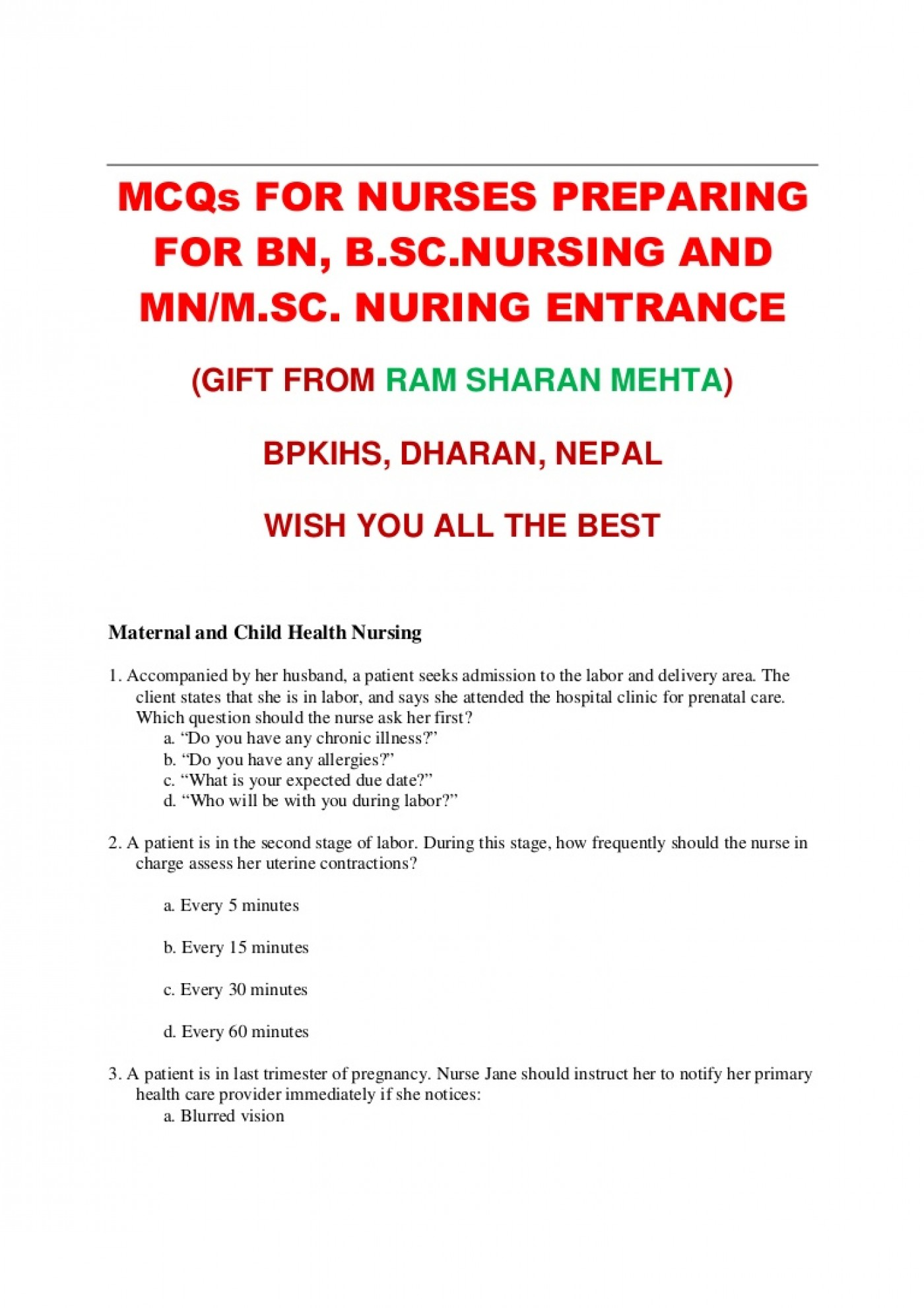 003 Research Paper Nursing Questions Pdf Page 3 ~ Museumlegs