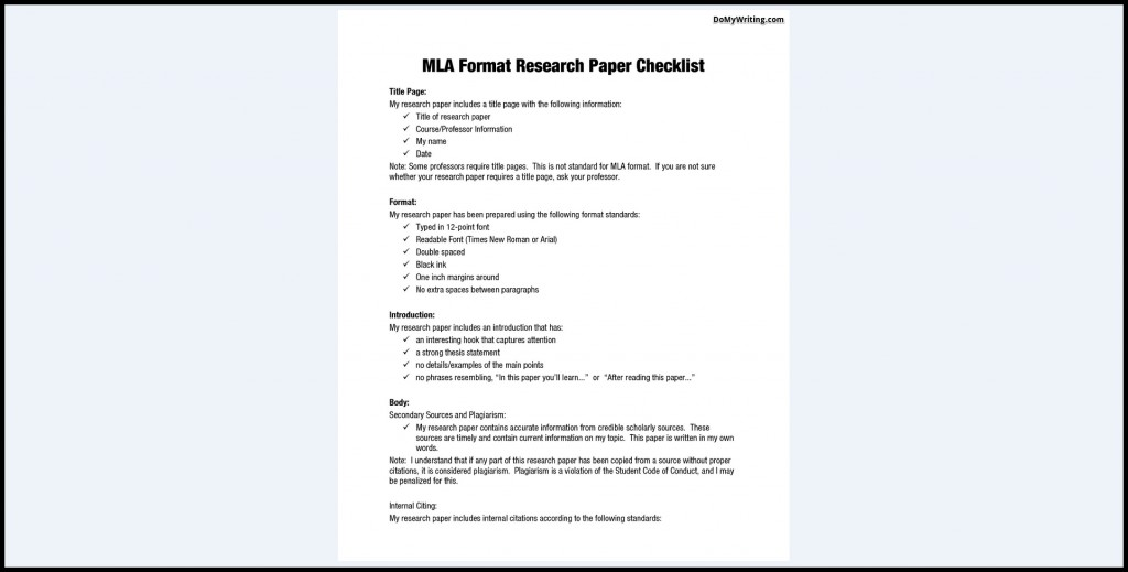 007 Research Paper Mla Format In Excellent Style Outline Sample Title Page Writing A Using Large