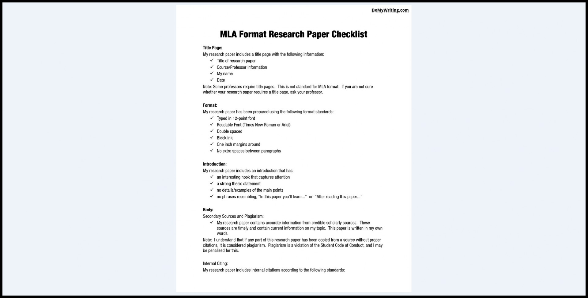 007 Research Paper Mla Format In Excellent Style Outline Sample Title Page Writing A Using 1920