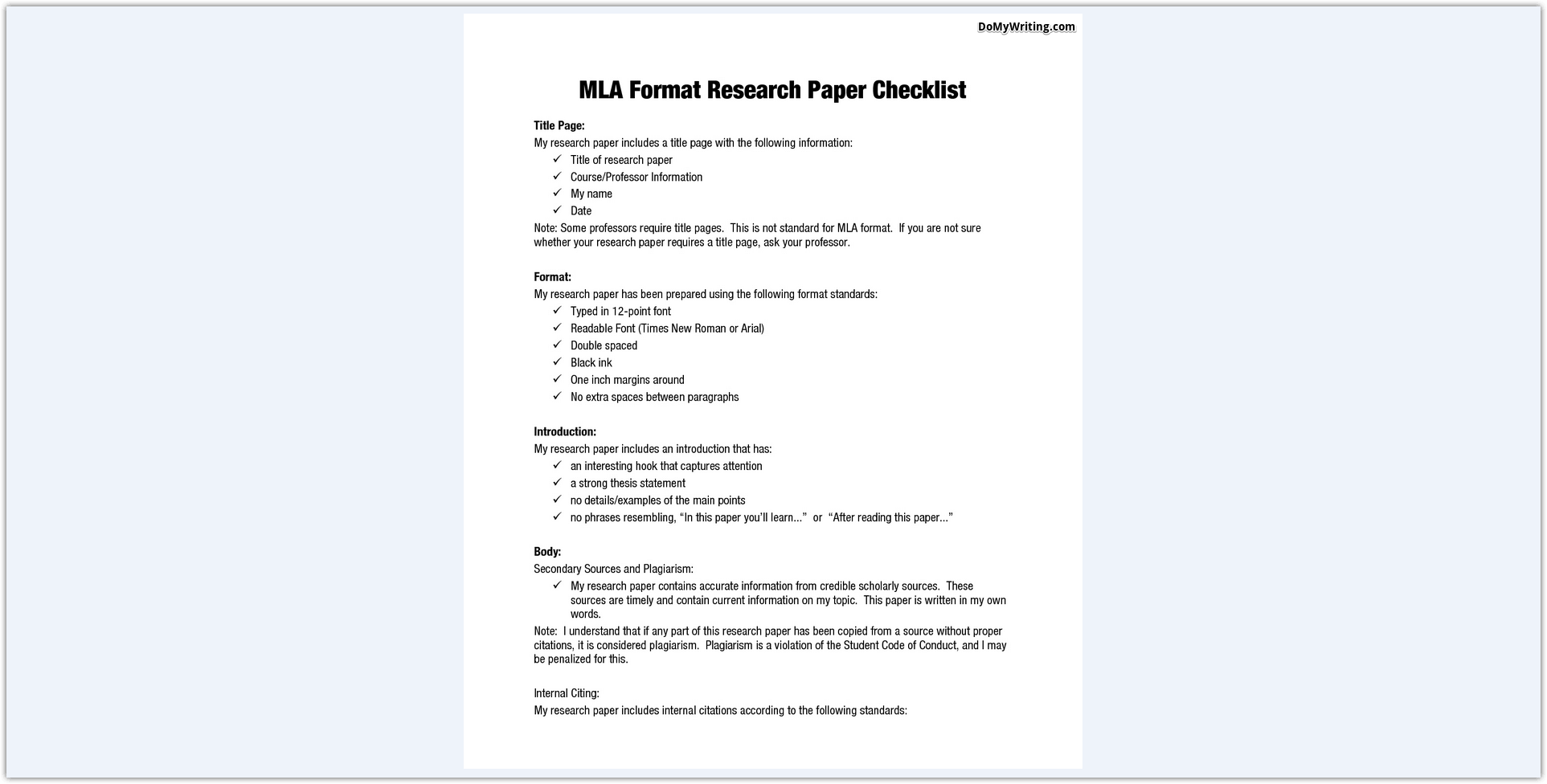 007 Research Paper Mla Format In Excellent Style Outline Sample Title Page Writing A Using Full